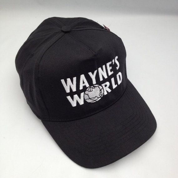 Black Waynes World Embroidered Party Baseball Cap  5 panel structured low profile light weight baseball cap with self fabric touch strap.  Brand new with tags If this is a gift for a special occasion please order in plenty of time to allow for shipping.  Shipping is from the United Kingdom. All orders are dispatched within 1 working day of the order transaction.  UK Delivery Times. Royal Mail 1st Class next day delivery. 2nd Class 1 - 2 days delivery. Hermes 3 -5 days delivery…