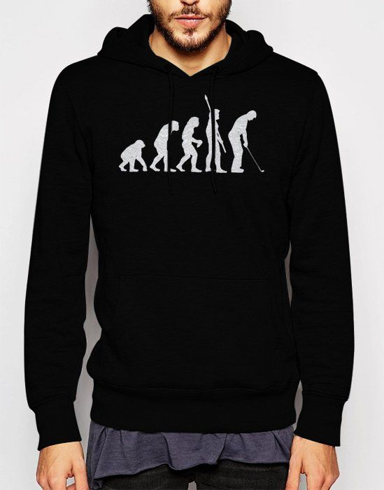 Gift+for+Men+Evolution+of+Golf+Black+Hoodie
