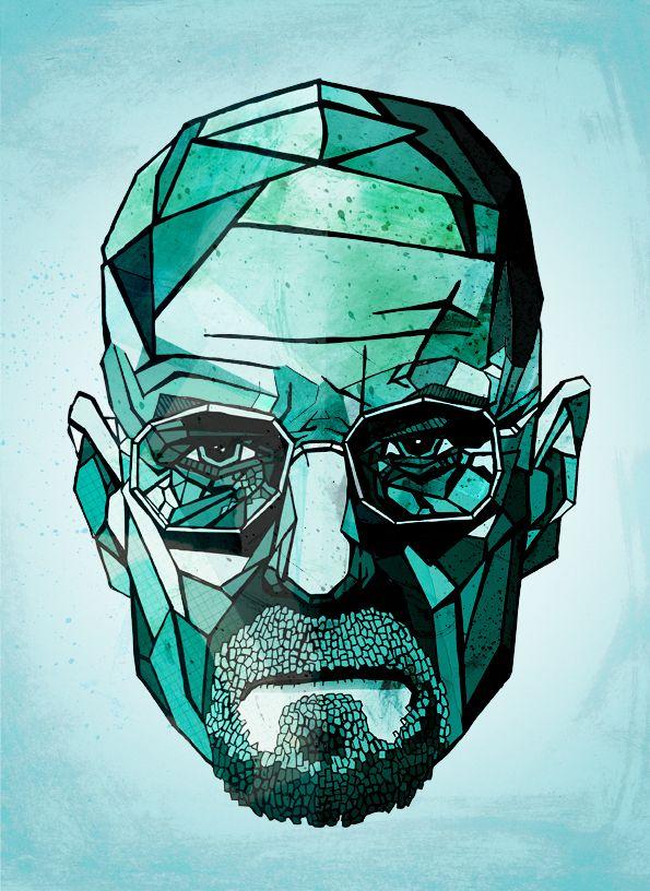 Breaking Bad - Walter White by Dave Wharton, via Behance