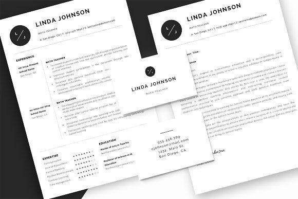 Resume Templates  Design  Teacher Resume / CV  Cover Letter