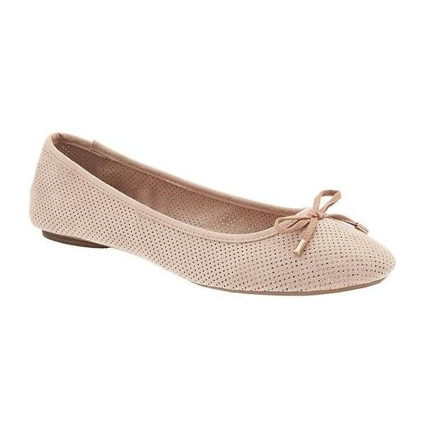 Old Navy Womens Sueded Ballet Flats ($19) ❤ liked on Polyvore