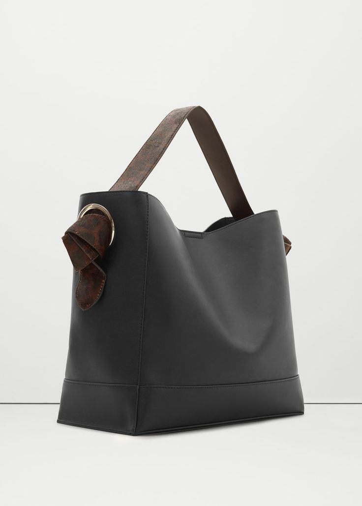 Contrasting hobo bag - Bags for Woman | MANGO United Kingdom