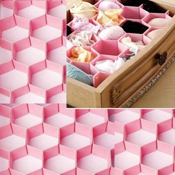 Kilofly Home Diy Drawer Organizer Pink Home