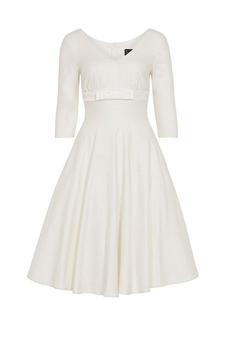 50s Wedding Dress, 1950s Style Wedding Dresses, Tea Length Wedding Dresses Voodoo Vixen Dorothy Bridal Plus Size Dress £62.50 AT vintagedancer.com