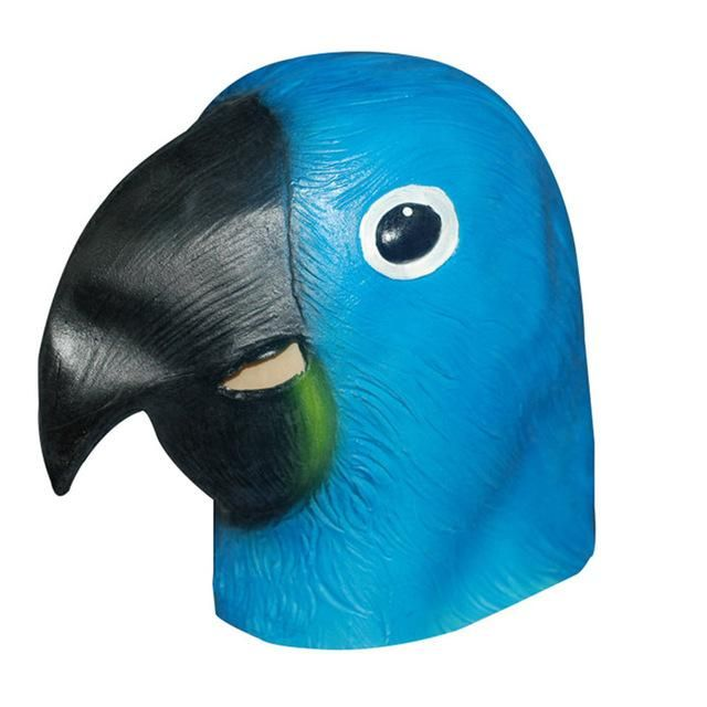 Latex Full Face Trump Cosplay Masks Elephant Squirrel Parrot Alpaca Hippo Animal Head Mask