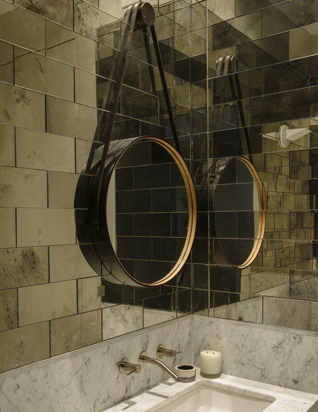 chic factory new york salle de bains toilettes bathroom pinterest miroirs suspendus. Black Bedroom Furniture Sets. Home Design Ideas