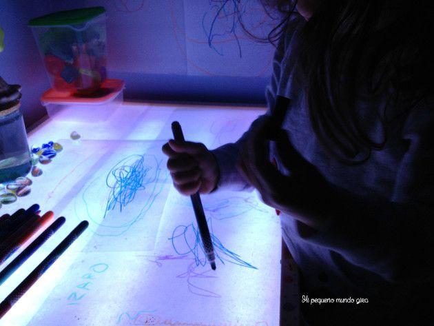 mesa luz pintar