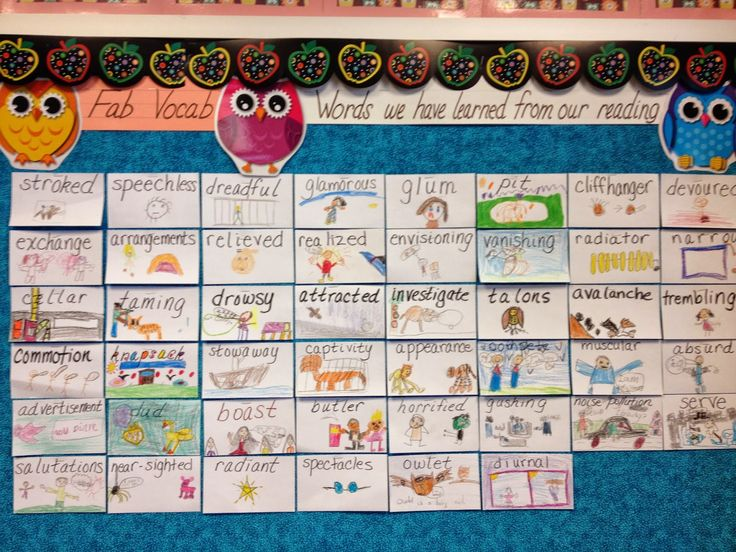 Vocabulary Bulletin Board idea- great way to get students to use more vocab words!