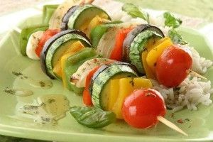 Brochetas Vegetarianas