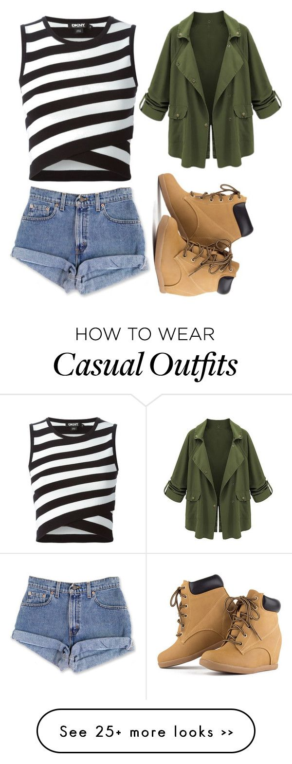 """""""Casual"""" by cutiepie40166 on Polyvore featuring moda ve DKNY"""