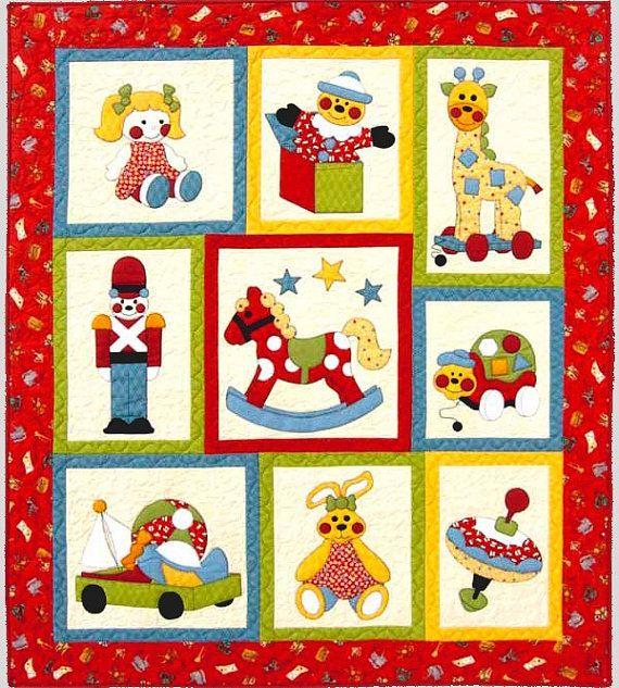 children's quilt patterns   SHOP Quilt PATTERN ~ Cute Children's Applique and Pieced Quilt Pattern ...