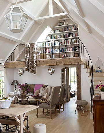 cool loft apartment. A small loft doubles as a library  19 best Cool Lofts images on Pinterest Santa monica and