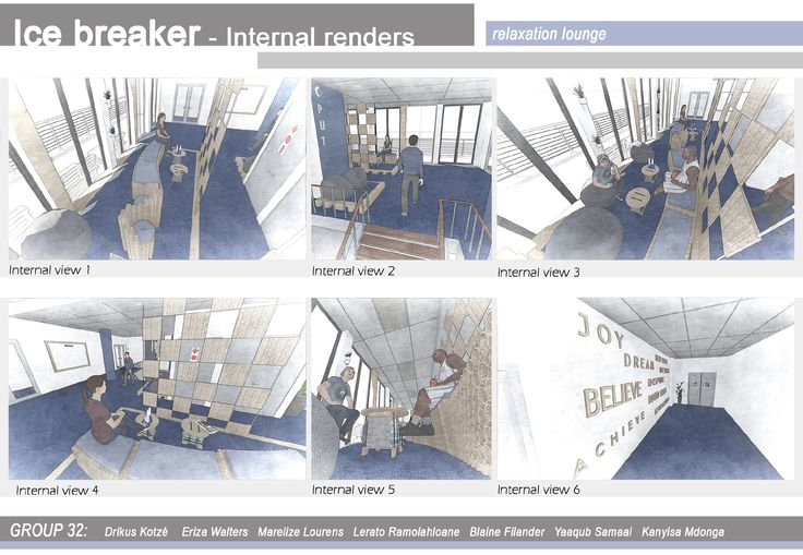 A few internal renders of the lounge space