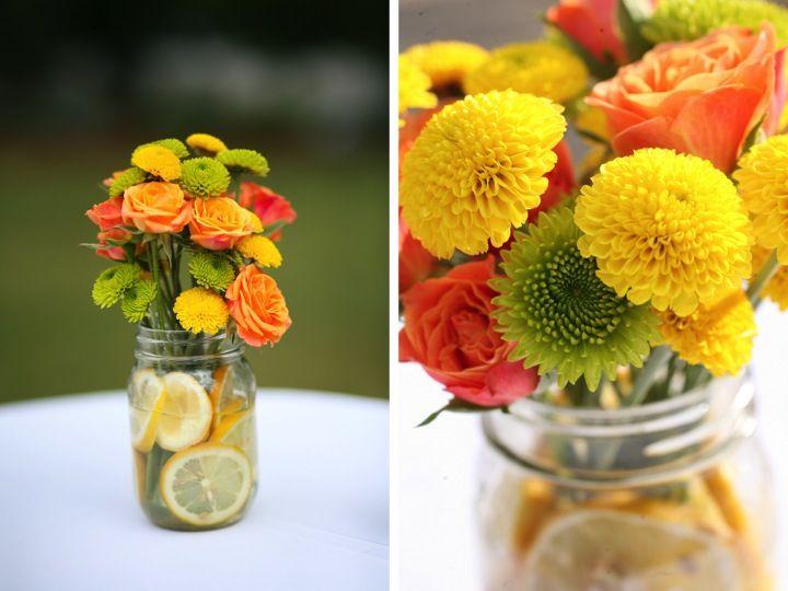 Bright spring colors! #yellow #orange #green #wedding
