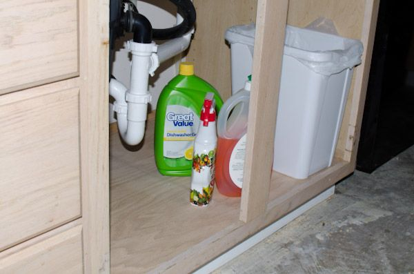 Replace Water Damaged Cabinet Bottom For The Home