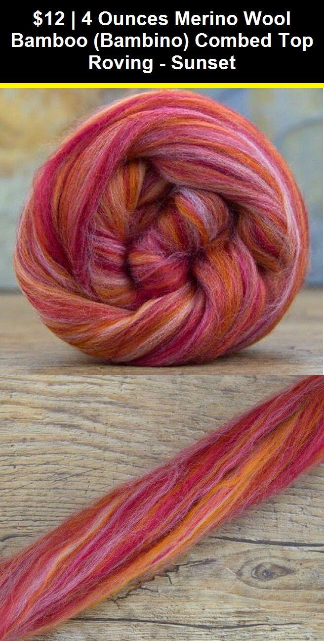 acfc213bc0668 Roving Wool and Fibers 36601: 4 Ounces Merino Wool Bamboo (Bambino ...
