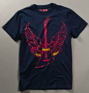 U2 have long led the way in social awareness: Hard Rock Cafe t-shirt design for Amnesty by U2
