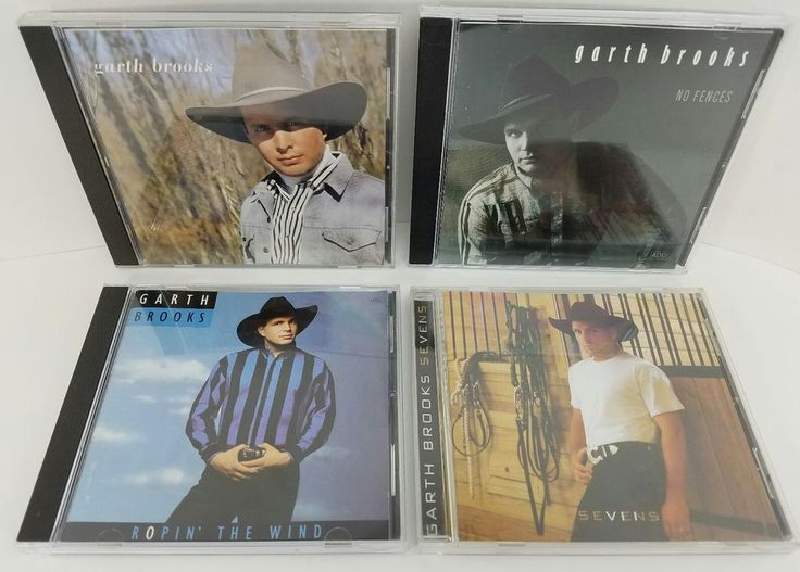 4 CD Lot Garth Brooks No Fences Ropin The Wind Sevens All Play Tested