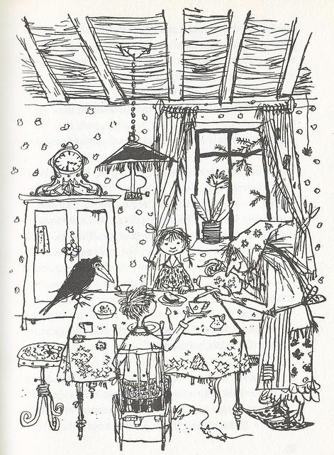 Die kleine Hexe von Ottfrief Preussler #coloringpages #