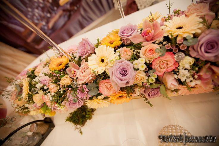 Main table flower centerpiece for a springtime... created by Enchantée