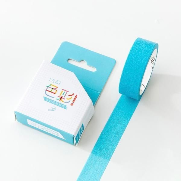 Sky Blue Solid Color Washi Tape 15mmx7m