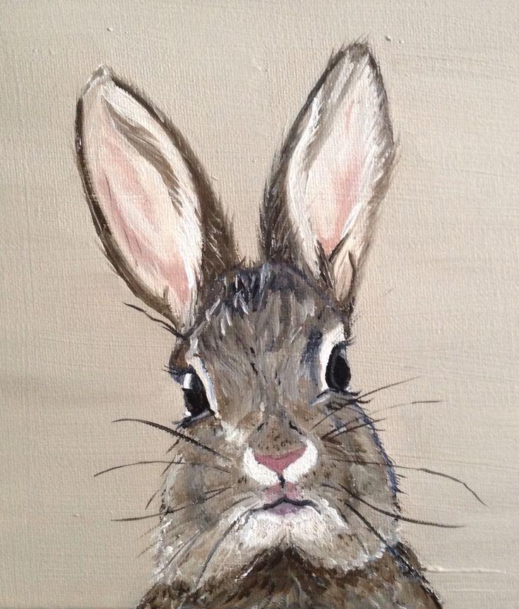 Rabbit/oil on canvas/by Sofie Van Daele