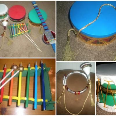 making homemade instruments for kids - Google Search