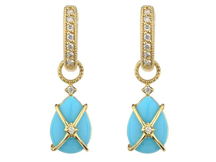 Gorgeous Turquoise Earrings from Jude Frances | Hint & Whisper