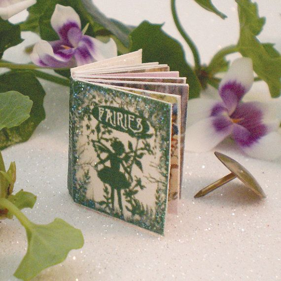 Miniature Fairy Book double sided printed by MichellesMiniatures