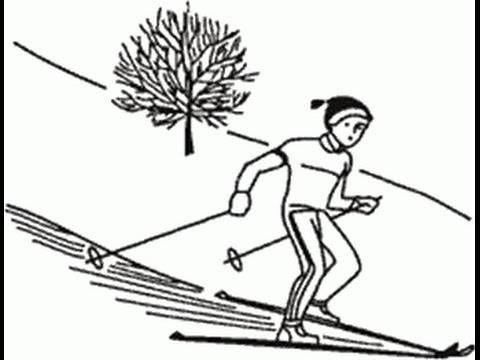 Беговые лыжи. Торможение упором. - http://sportmetod.ru/video/snow/begovye-lyzhi-tormozhenie-uporom.html