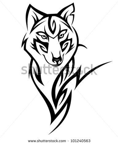 Tribal Wolf Tattoo | Tribal Wolf Tattoo Design Stock Vector 101240563 : Shutterstock