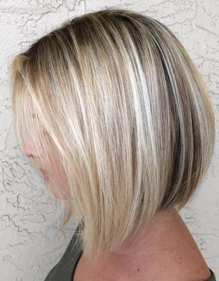 Blonde Bob And Lowlights Hairstyles Pinterest Corte De Pelo