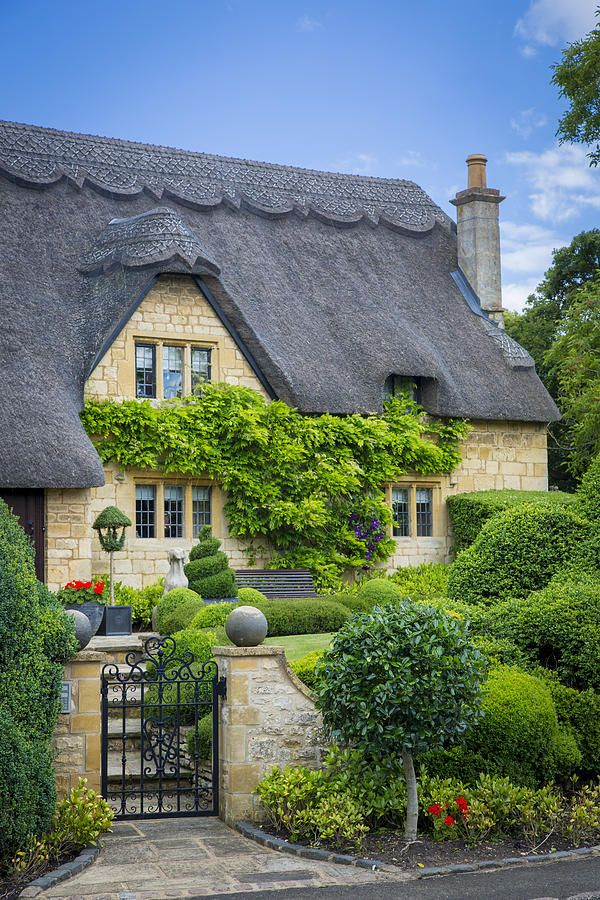 Thatch Roof Cottage Photograph by Brian Jannsen