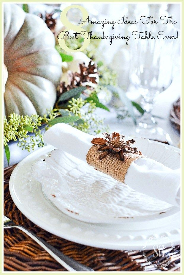 8 AMAZING IDEAS FOR THE BEST THANKSGIVING TABLE EVER Light