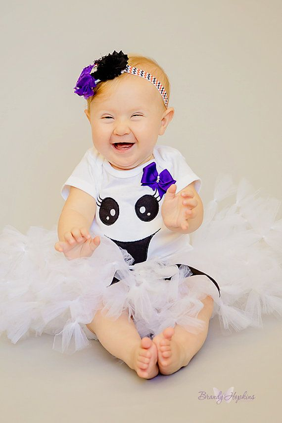 Ghost tutu with Baby Ghost tutu Ghost Costume-Girls by SewsnBows