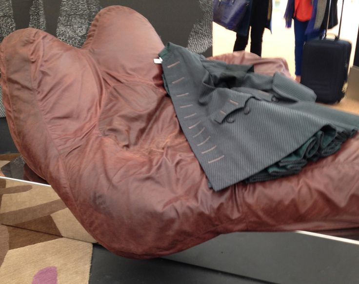 This comfy chair was part of the rake's progress installations.