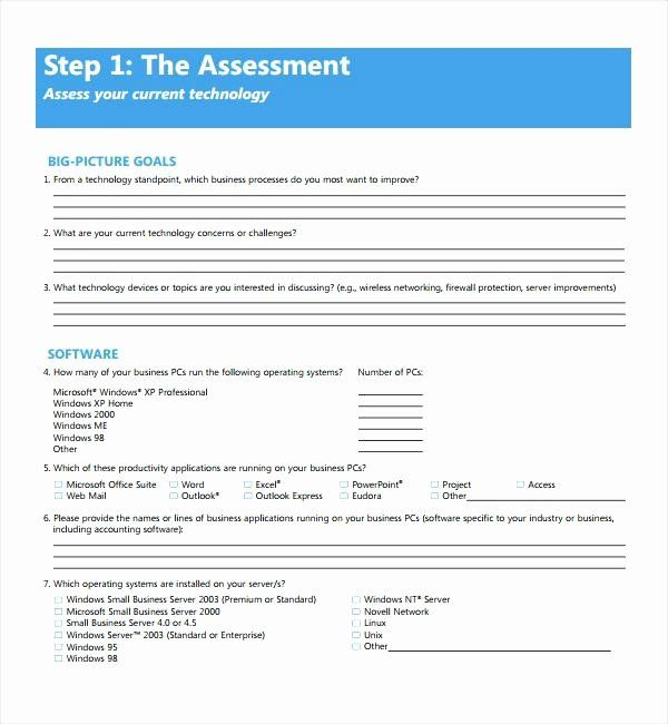 Information Technology Risk Assessment Template Best Of Technology Assessment Template Information Risk T Information Technology Assessment Email List Template