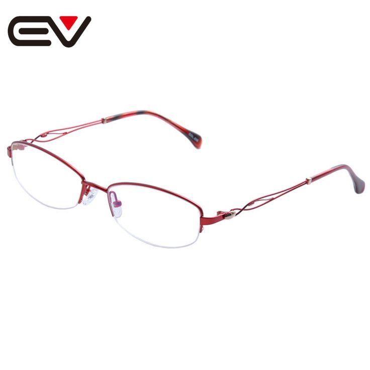 2016 New Fashion Women Metal Half Rim Glasses Frames Woman Optical Eyeglasses Frames titanio gafas sin montura marco EV1355