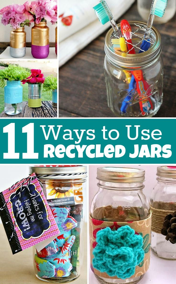 11 Ways to Use Recycled Jars
