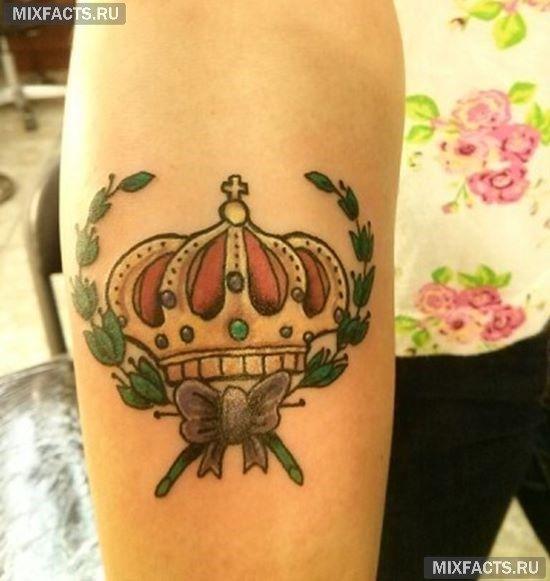 Татуировка корона - 33 фото Значение, символика