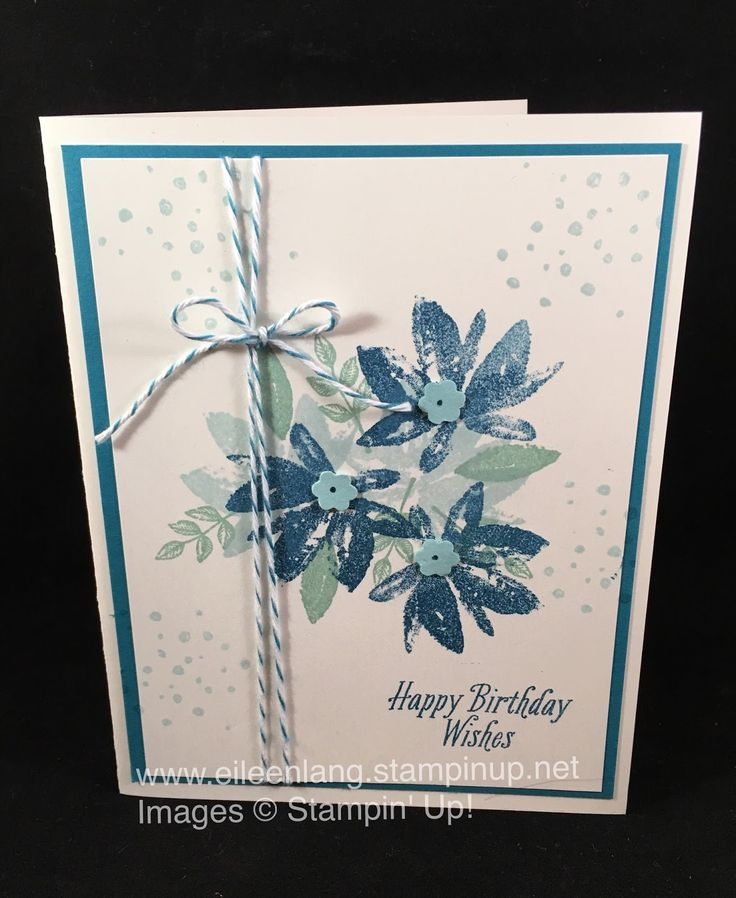 Another FREE stamp set in the Sale-a-bration catalog - Avant Garden - was used for today's card. I really love the soft look of the f...