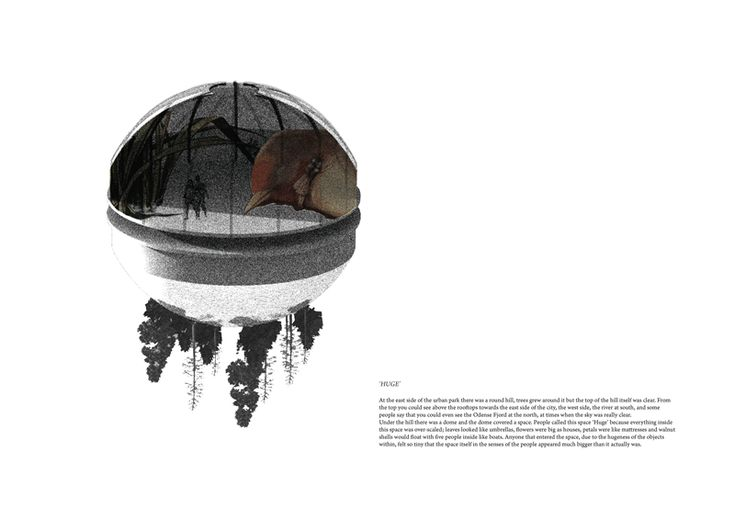 draftworks* proposal for 'House of Fairytales' Competition Odense, Denmark, 2013 Thematic spaces #2    *  'SMAATING', LITTLE WORLDS  'Smaating', which means 'little, unimportant things', is the Danish word that H.C.Andersen used in orde...