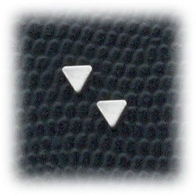 pierced earrings Stainless Steel Triangle posted at Simply Whispers