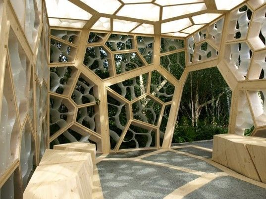 Times Eureka Pavilion at the Chelsea Flower Shower takes inspiration from a leaf's structure