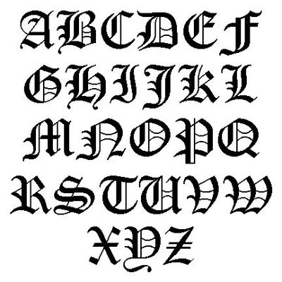 Old english letters also from a transactional model for Flowy tattoo fonts