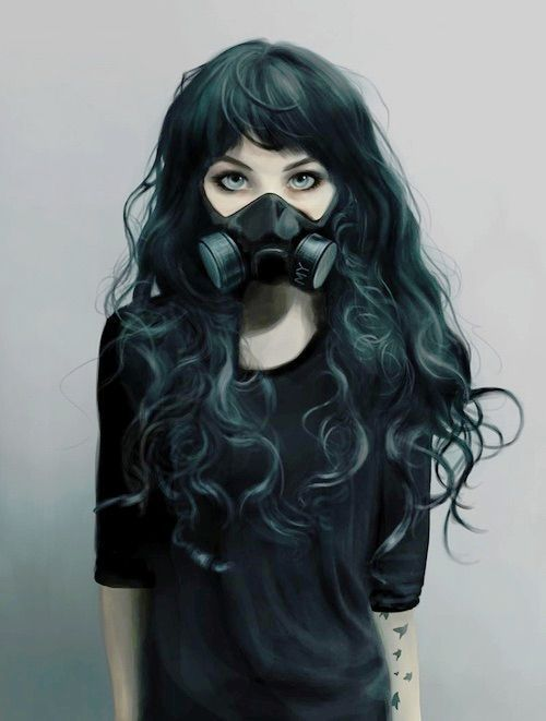 Image result for anime gas mask bloom art masks art - Anime girl with gas mask ...