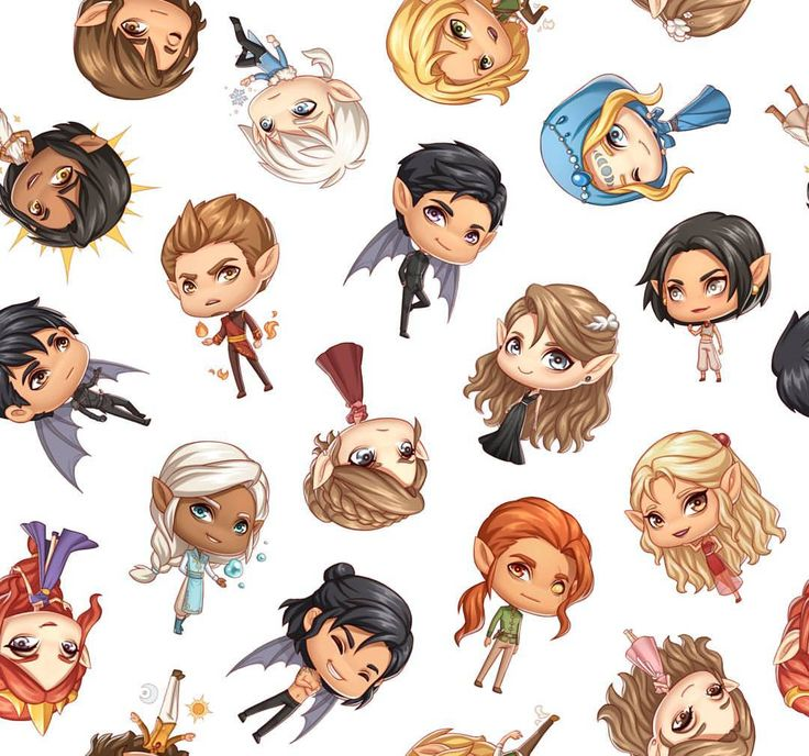 Chibi court of thorns and roses. So cute.