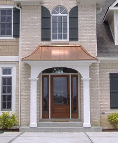 Front Door Awning Ideas the juliet gallery metal awnings projects gallery of metal front door Architectural Copper Work Exterior Building Copper Tri State New York Nyc