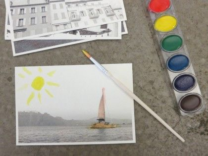 Hand-colored photo postcards