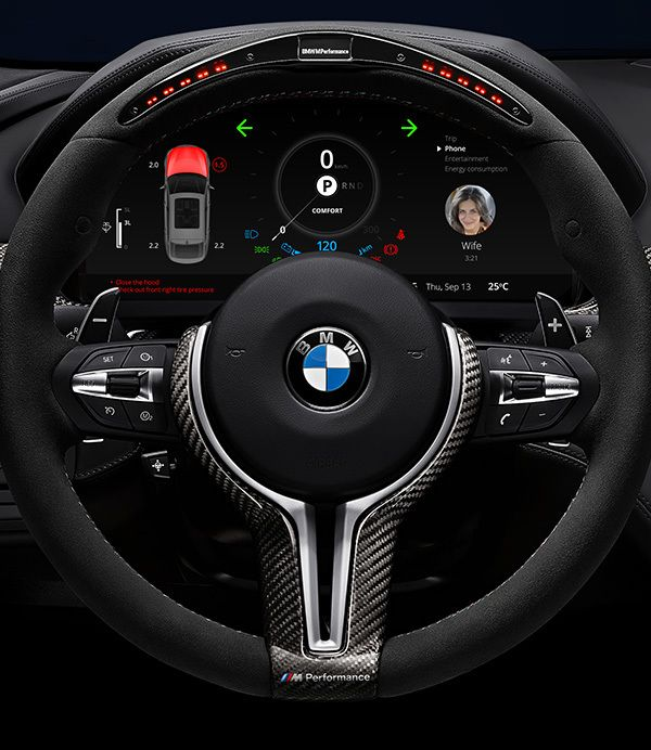 BMW Car Dashboard Design